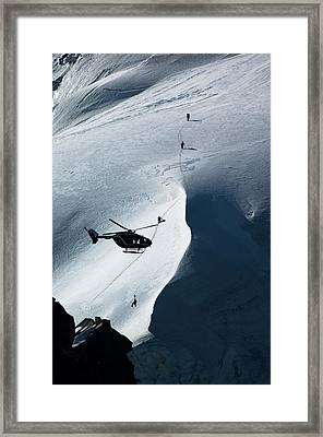 Helicopter Rescue Framed Print by Duncan Shaw