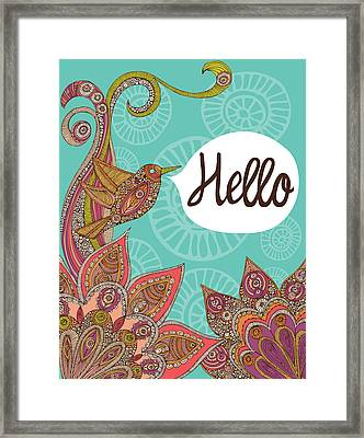 Hello Framed Print by Valentina Ramos
