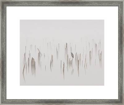 Heron On A Foggy Day Framed Print by Billy  Griffis Jr