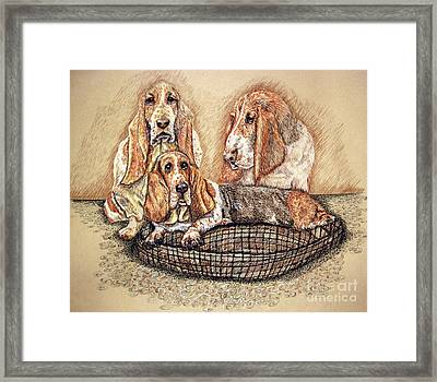 Hess'er Puppies Framed Print by Linda Simon