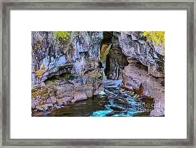 Hidden Falls Framed Print by Bryan Benson