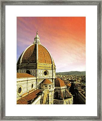 High Angle View Of A Cathedral, Duomo Framed Print by Miva Stock
