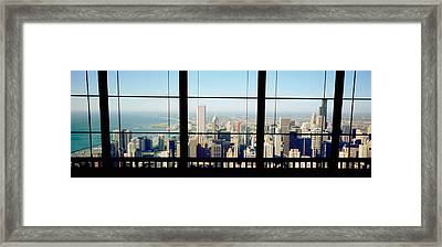 High Angle View Of A City As Seen Framed Print by Panoramic Images