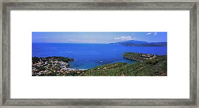 High Angle View Of Sea, Golfo Stella Framed Print by Panoramic Images