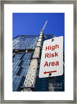 High Risk Building Site Framed Print by Jorgo Photography - Wall Art Gallery