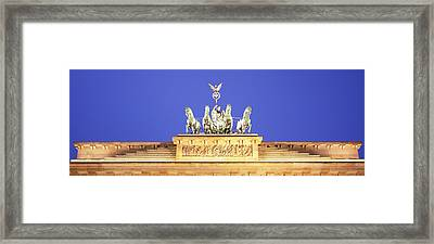 High Section View Of A Gate Framed Print by Panoramic Images