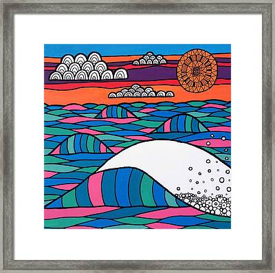 High Tide High Hope Framed Print by Susan Claire