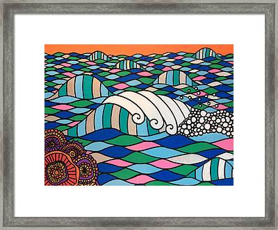 High Tide High Love Framed Print by Susan Claire