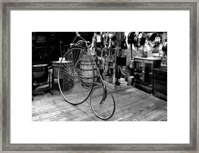High Wheel 'penny-farthing' Bike Framed Print by Christine Till
