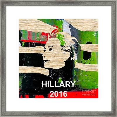 Hillary Clinton 2016 Framed Print by Marvin Blaine