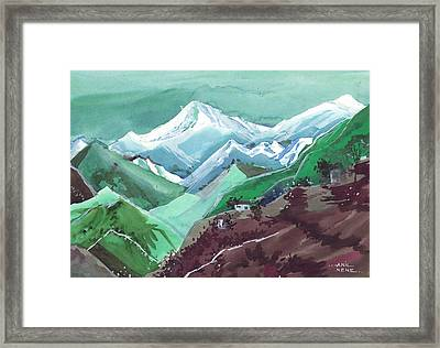 Himalaya 2 Framed Print by Anil Nene