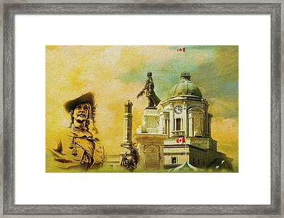 Historic Town Of Old Quebec Framed Print by Catf