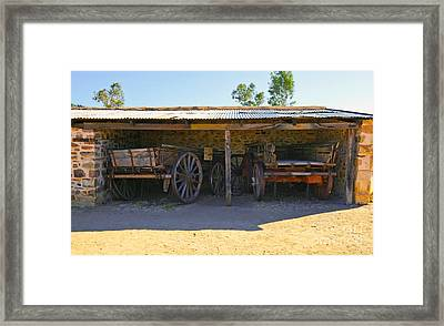 Historical Telegraph Station Alice Springs Central Australia  Framed Print by Bill  Robinson