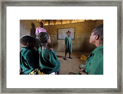 Hiv Aids Education Framed Print by Matthew Oldfield