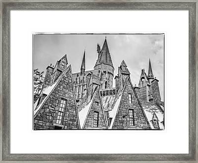 Postcard From Hogsmeade Framed Print by Edward Fielding