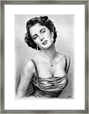 Hollywood Greats  Elizabeth Taylor Framed Print by Andrew Read