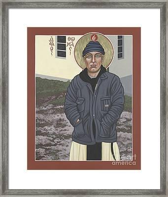 Holy World Evangelist Thomas Merton 267 Framed Print by William Hart McNichols