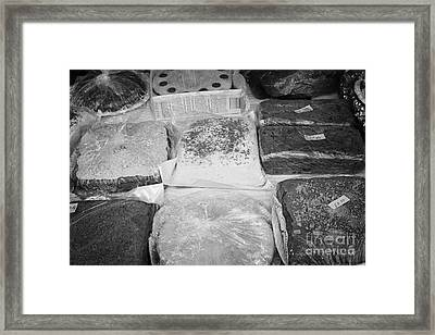 Home Made Cakes On A Charity Stall At An Outdoor Event In The Uk Framed Print by Joe Fox