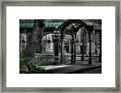 Homeless In Seattle Framed Print by David Patterson