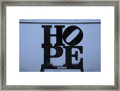 Hope In Cyan Framed Print by Rob Hans