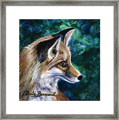 Hopeful Fox Framed Print by Dale Bernard