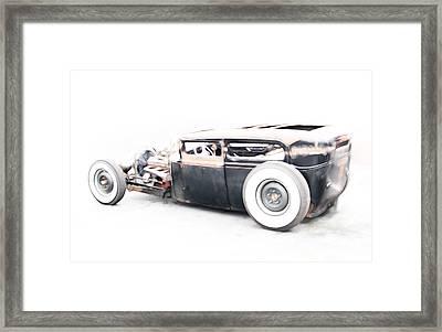 Hotrod Ford Framed Print by Steve McKinzie