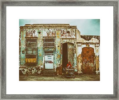 Shopping Cart Framed Print featuring the photograph House In Maracaibo Venezuela by Mountain Dreams