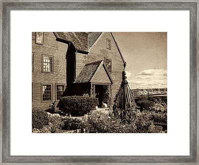 House Of The Seven Gables Framed Print by Lourry Legarde