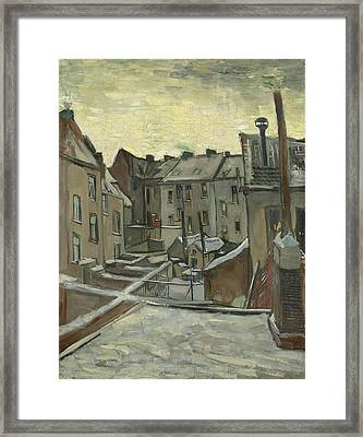 Houses Seen From The Back Framed Print by Vincent Van Gogh