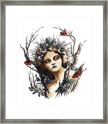 Huckleberry Nymph Framed Print by Lavandulae L