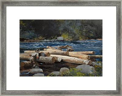 Hudson River Framed Print by Winslow Homer