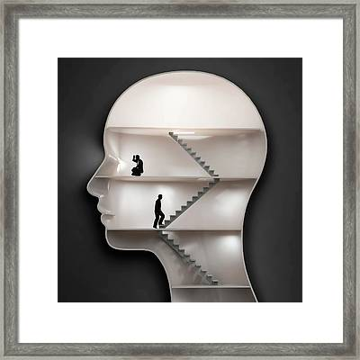 Human Mind Framed Print by Andrzej Wojcicki