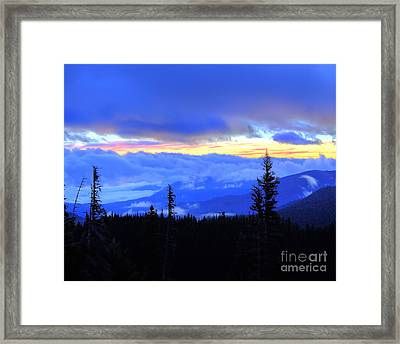 Hurricane Ridge Framed Print by Twenty Two North Photography