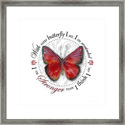 I Am Stronger Than I Think I Am Framed Print by Amy Kirkpatrick