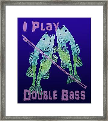 I Play Double Bass Framed Print by Jenny Armitage