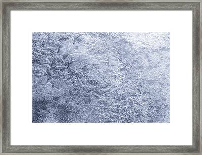 Ice On Minnehaha Creek  Framed Print by Jim Hughes