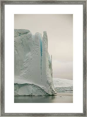Icebergs From The Jakobshavn Glacier Framed Print by Ashley Cooper
