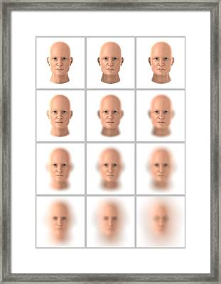Identity Theft, Conceptual Artwork Framed Print by Science Photo Library