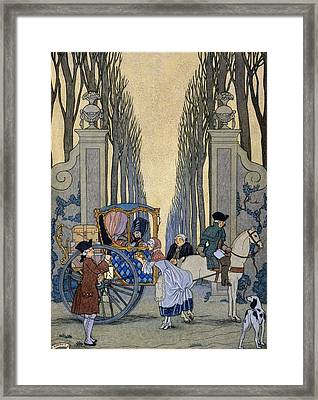 Illustration From 'les Liaisons Dangereuses'  Framed Print by Georges Barbier