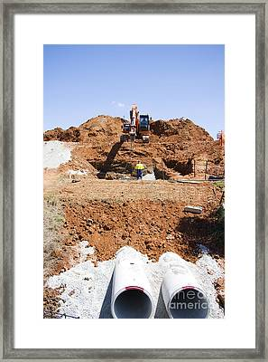 In The Pipeline Framed Print by Jorgo Photography - Wall Art Gallery