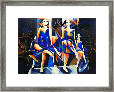 In Time Framed Print by Georg Douglas