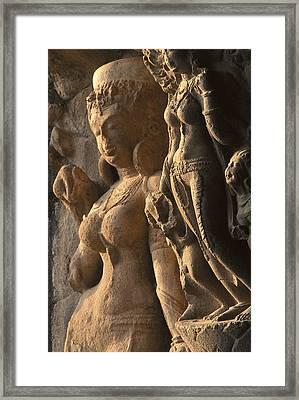 India. Ellora. Ellora Caves. Ellora Framed Print by Everett