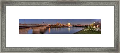 Indianapolis From White River Framed Print by Twenty Two North Photography