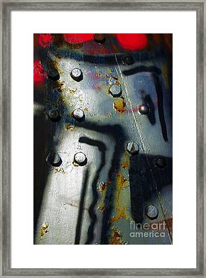 Industrial Detail Framed Print by Carlos Caetano