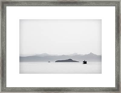 Inside Passage Alaska Framed Print by Carol Leigh