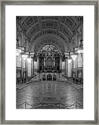 Interior Of St Georges Hall Liverpool Uk Grade 1 Listed Build Framed Print by Ken Biggs