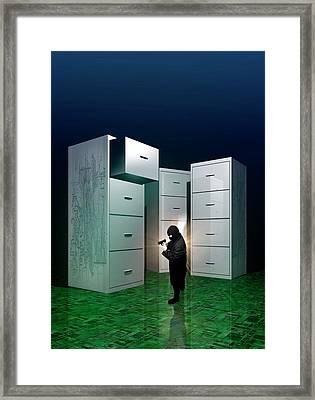 Internet Terrorism Framed Print by Victor Habbick Visions
