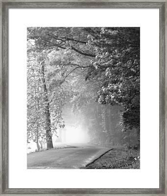 Into The Fog Framed Print by Andrew Soundarajan