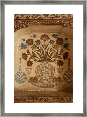 Intricate Frescoes, Tomb Framed Print by Inger Hogstrom
