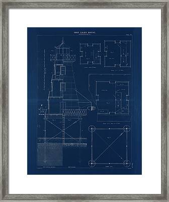 Iron Lighthouse Framed Print by Jerry McElroy